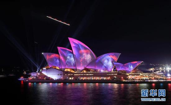 缤纷悉尼灯光音乐节开幕